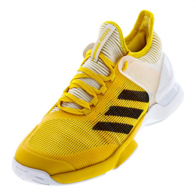 "Adidas ""Adizero Ubersonic 2"" Fencing Shoes Yellow/White"