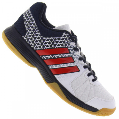 "Adidas ""Ligra 4"" Fencing Shoes Blue/White/Red"